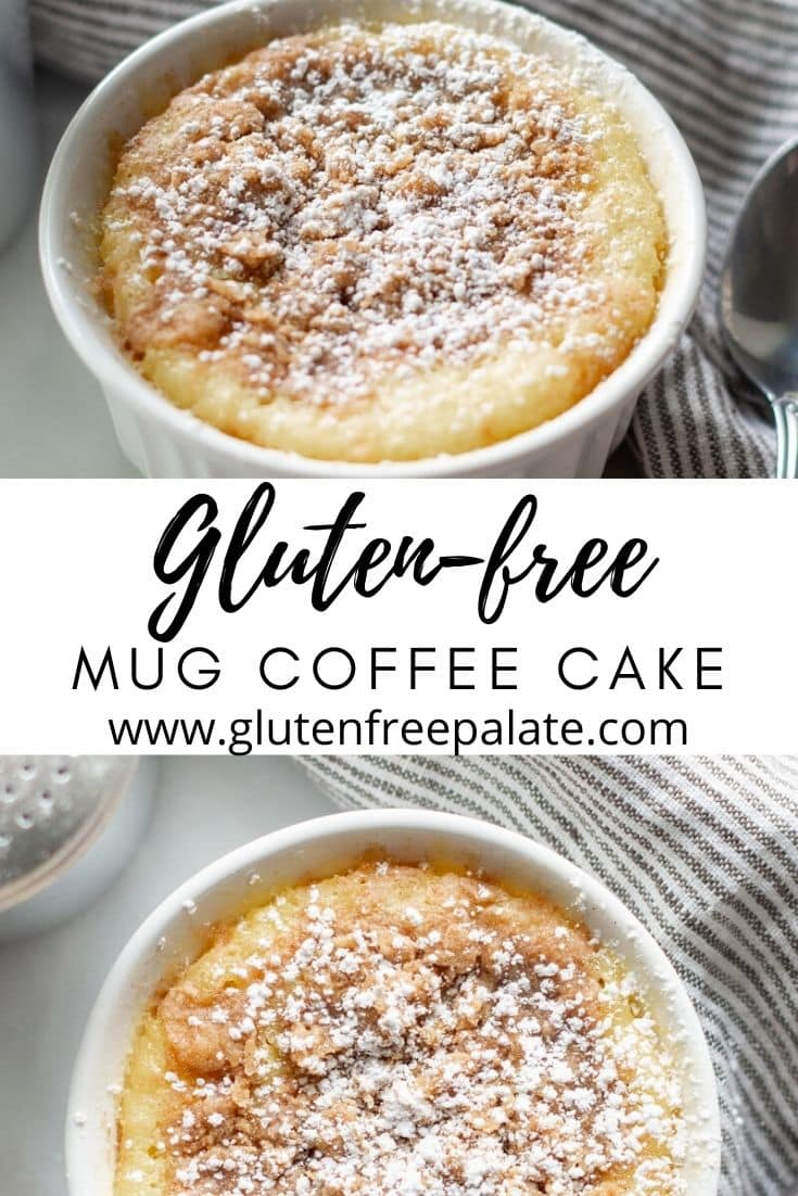 Gluten Free Mug Coffee Cake